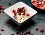 Eggplant cream with pomegranate and tahini